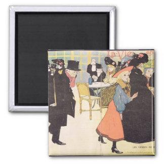 Cover illustration for 'La Vie en Rose', 1903 (col Square Magnet