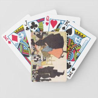 Cover illustration for 'La Vie en Rose', 1903 (col Poker Cards