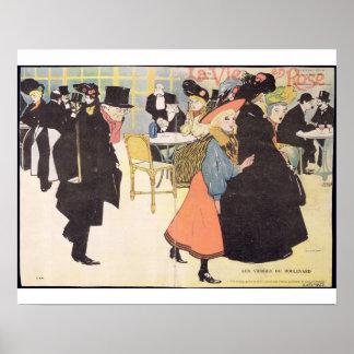 Cover illustration for 'La Vie en Rose', 1903 (col Poster