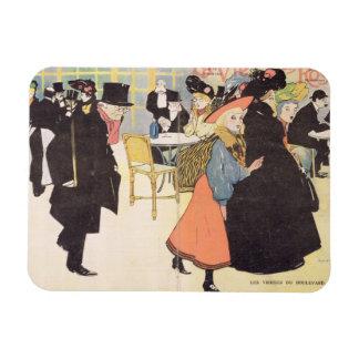 Cover illustration for 'La Vie en Rose', 1903 (col Rectangle Magnet