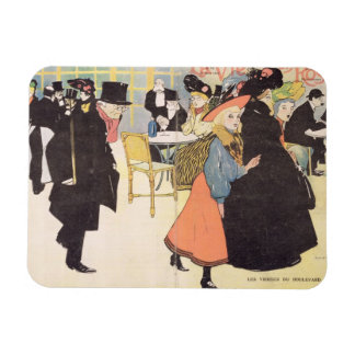 Cover illustration for 'La Vie en Rose', 1903 (col Rectangular Photo Magnet