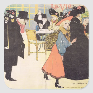 Cover illustration for 'La Vie en Rose', 1903 (col Stickers