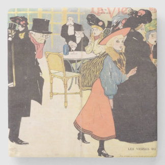 Cover illustration for 'La Vie en Rose', 1903 (col Stone Coaster
