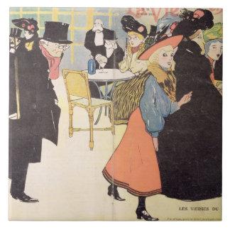 Cover illustration for 'La Vie en Rose', 1903 (col Ceramic Tiles