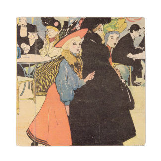 Cover illustration for 'La Vie en Rose', 1903 (col Wood Coaster