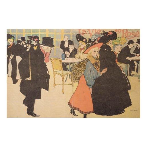 Cover illustration for 'La Vie en Rose', 1903 (col Wood Prints