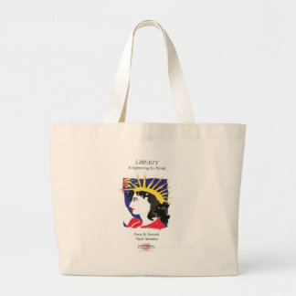 Cover-Lady Liberty/Bag Large Tote Bag