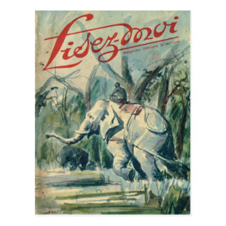 Cover, Lisez-Moi, Elephant at work Postcard