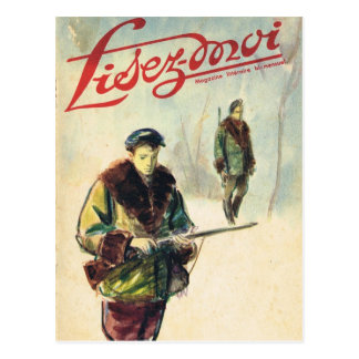 Cover, Lisez-Moi, Hunters in the forest Postcard