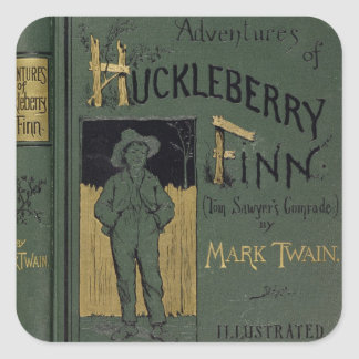 Cover of 'Adventures of Huckleberry Finn' by Mark Square Sticker