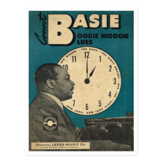 Cover of Count Bassie sheet music Postcard