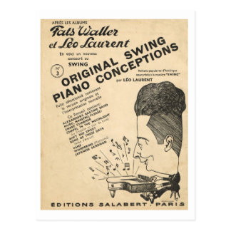 Cover of Fats Waller, Original Swing Conceptions Postcard