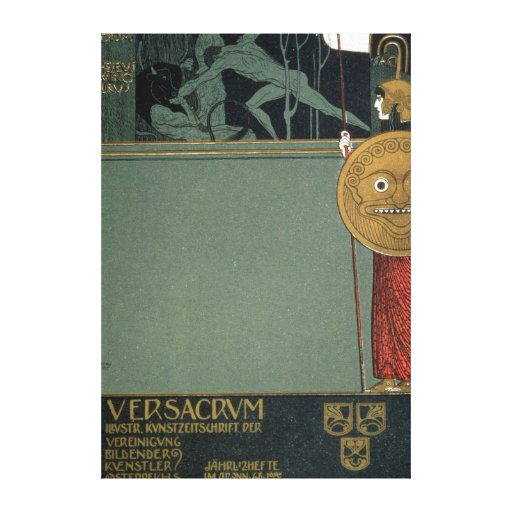 Cover of Ver Sacrum the journal of the Stretched Canvas Prints