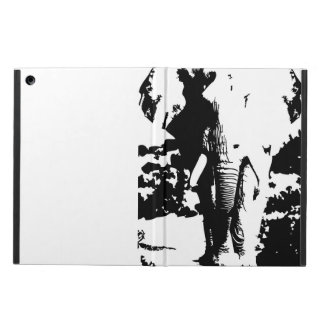 Cover with black and white print elephant