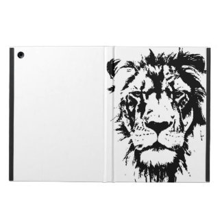 Cover with black and white print Leo iPad Air Covers