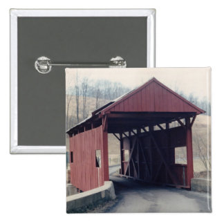 Covered Bridge 15 Cm Square Badge