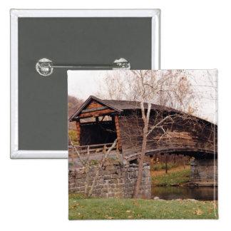 Covered Bridge 15 Cm Square Badge
