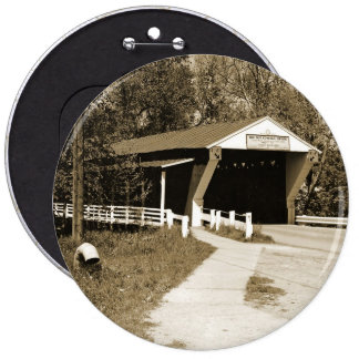 Covered Bridge 6 Cm Round Badge