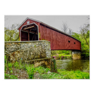 Covered Bridge -- art print _ Lancaster Pa