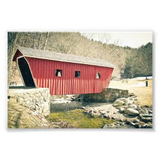 Covered Bridge at Kent Falls State Park Art Photo