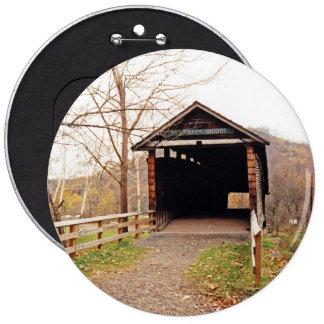 Covered Bridge 6 Cm Round Badge
