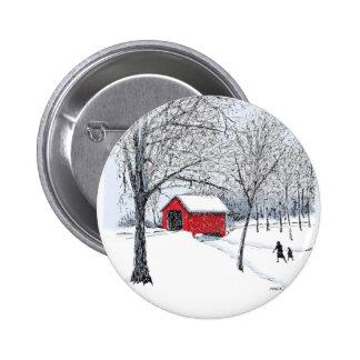 Covered Bridge Pinback Button