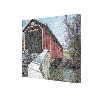 Covered Bridge - Canvas Print