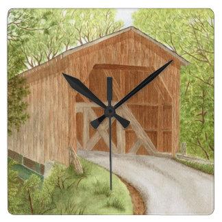 Covered Bridge - Clock Wallclock