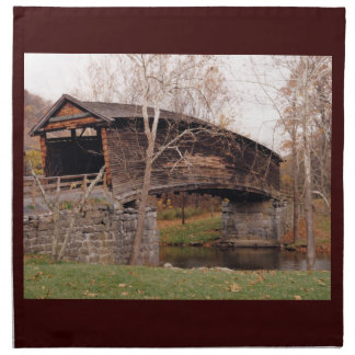 Covered Bridge Cloth Napkins