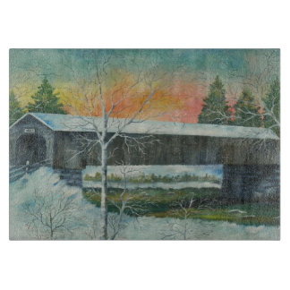 Covered Bridge Cutting Board