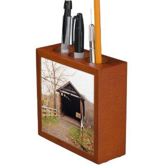 Covered Bridge Pencil/Pen Holder