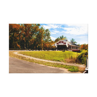 covered bridge gallery wrapped canvas