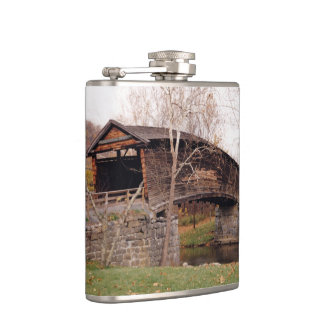 Covered Bridge Hip Flasks