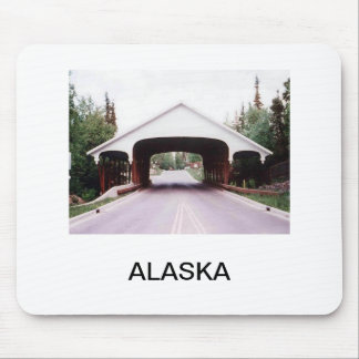 Covered bridge in Alaska mousepad