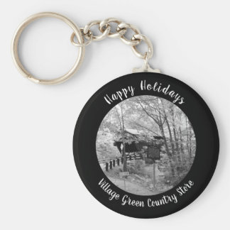 Covered Bridge in New England Key Ring