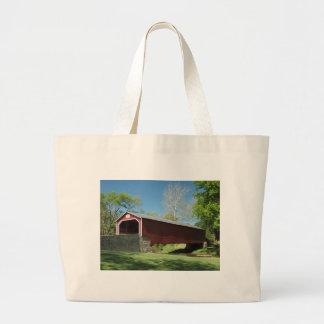 Covered Bridge in Pennsylvania Canvas Bags