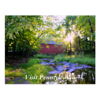 Covered Bridge in Pipersville Postcard