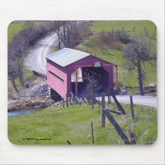 Covered Bridge In The Outaouais Mouse Pad
