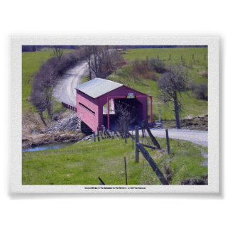 Covered Bridge In The Outaouais Posters