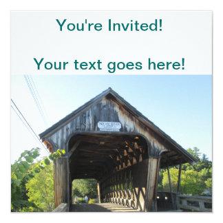 Covered Bridge 13 Cm X 13 Cm Square Invitation Card
