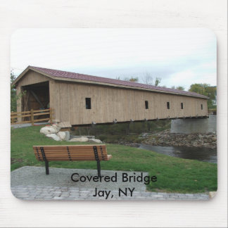 Covered Bridge Jay, NY Mousepad