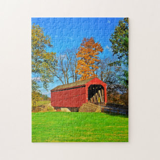Covered Bridge Jigsaw Puzzle