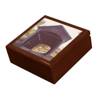 Covered Bridge Large Square Gift Box