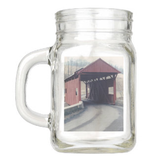 Covered Bridge Mason Jar