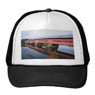 Covered bridge near Fort Coulange, Quebec, Canada Mesh Hat