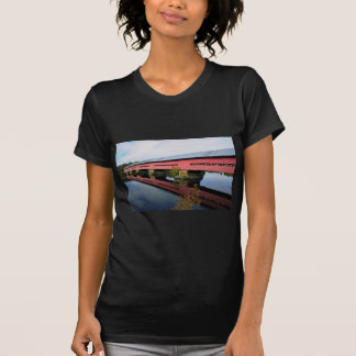 Covered bridge near Fort Coulange, Quebec, Canada T-Shirt