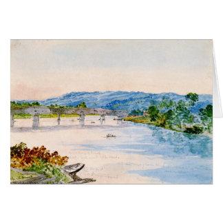 Covered Bridge New York 1846 Greeting Card