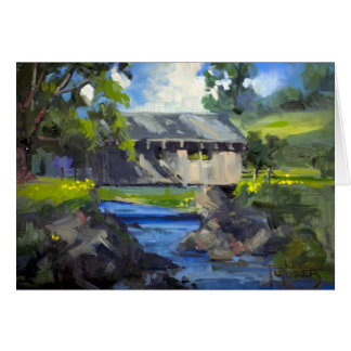 Covered Bridge Over the Stream Note Card