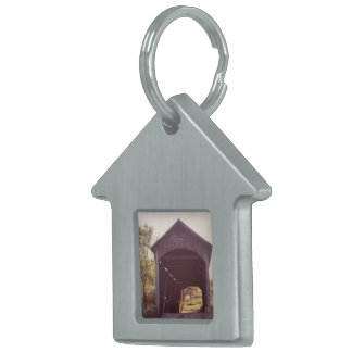 Covered Bridge Pet Name Tag