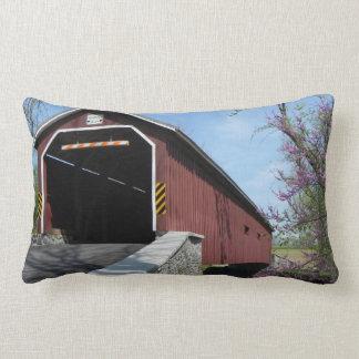 Covered Bridge pillow Throw Pillows